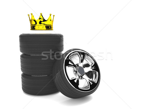 Chromed Felly With Tires Golden Crown Stock photo © limbi007