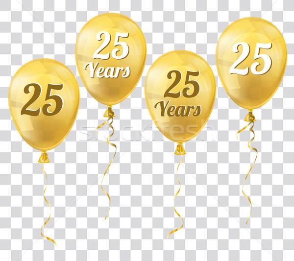Dorado transparente globo 25 año globos Foto stock © limbi007