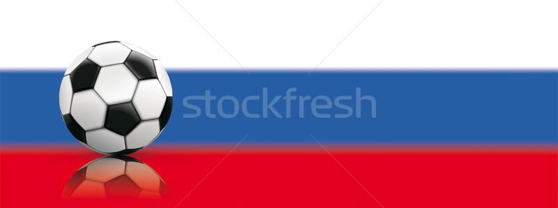 футбола русский флаг цветами прибыль на акцию Сток-фото © limbi007