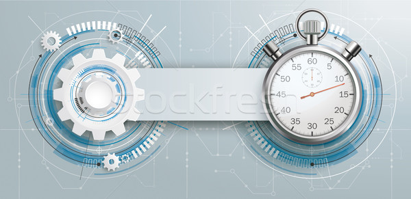 Futuristico attrezzi costruzione cronometro circuito banner Foto d'archivio © limbi007
