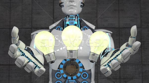 Robot 3 Bulbs Stock photo © limbi007