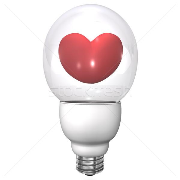 Bulb Heart Stock photo © limbi007