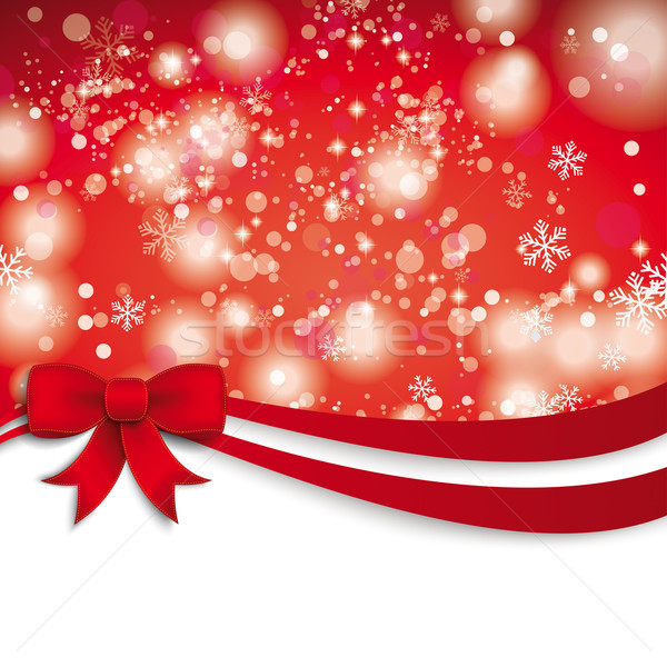 Christmas Red Ribbon Flyer Stock photo © limbi007
