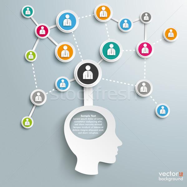 Business netwerken hoofd gat ontwerp Stockfoto © limbi007