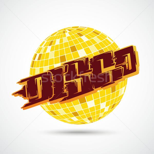 Disco ball graffiti fiesta volante 10 vector Foto stock © limbi007