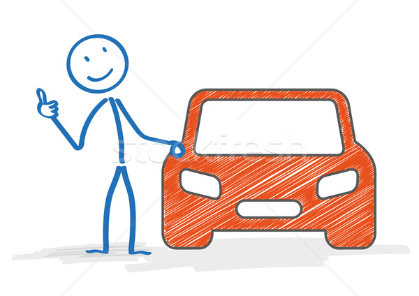 Stickman Car Okay Stock photo © limbi007