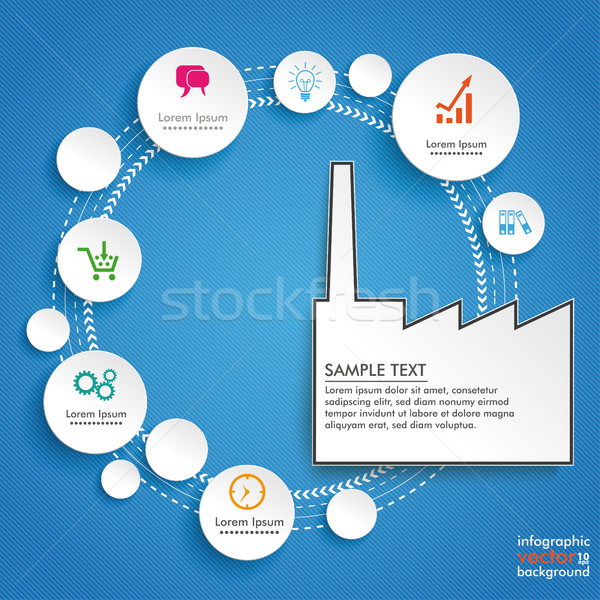 Circles Cycle Industry Blue Infographic Stock photo © limbi007