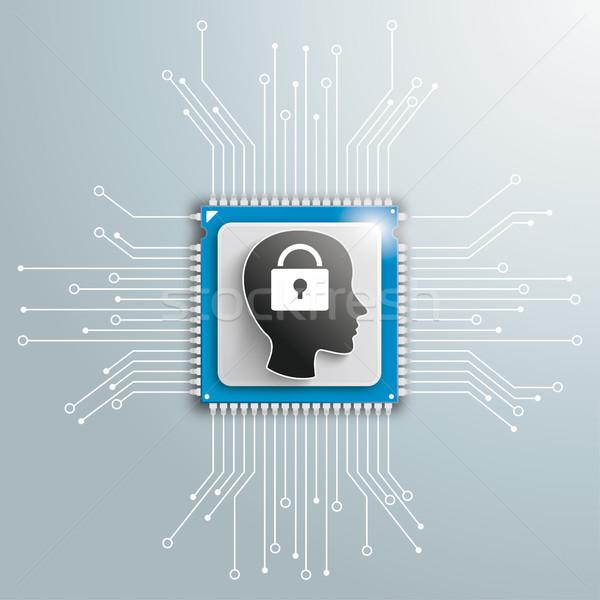 Head DLock Processor Circuit Board Infographic Stock photo © limbi007