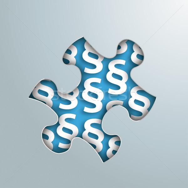 Puzzle Hole Paragraphs Stock photo © limbi007