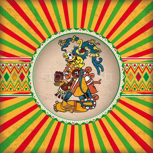 Retro nap lyuk majonéz Isten mexikói Stock fotó © limbi007