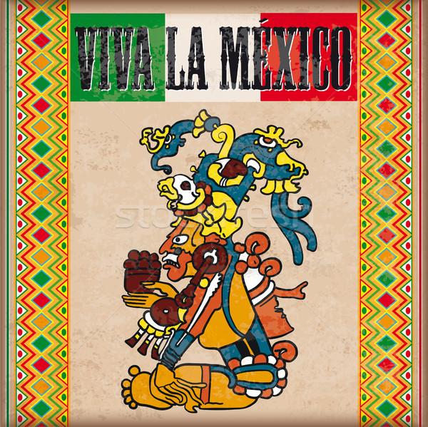 Vintage Ornaments Maya Viva La Mexico Stock photo © limbi007