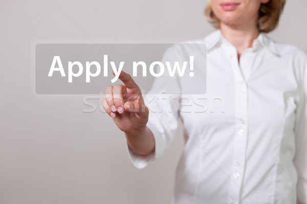 Woman Apply Now Stock photo © limbi007