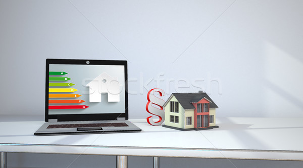 Notebook Room House Paragraph Energy Pass Stock photo © limbi007