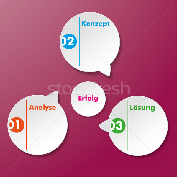 Analysis conception Solution Success Stickers Stock photo © limbi007