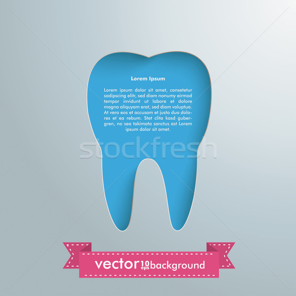 Silver Background Tooth Hole Stock photo © limbi007