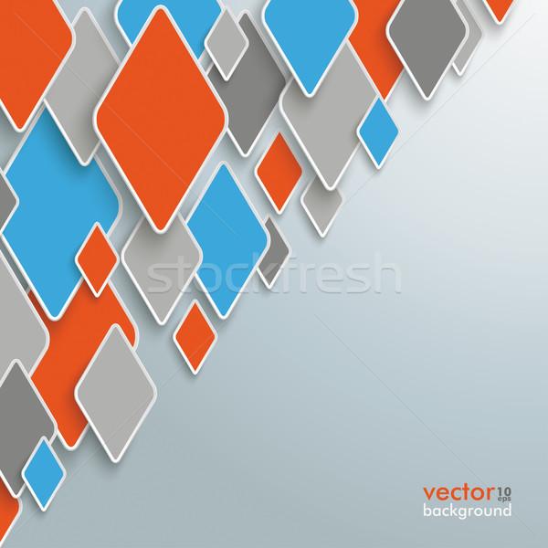 ストックフォト: 抽象的な · インフォグラフィック · デザイン · ピース · グレー