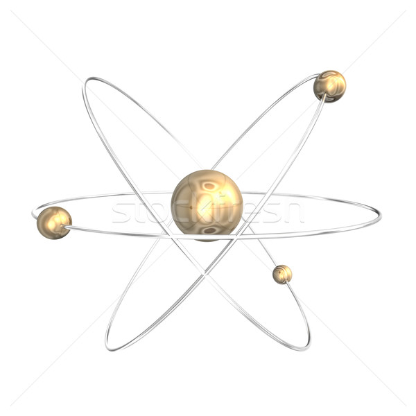 Atomique profile 3D 3d illustration or Photo stock © limbi007