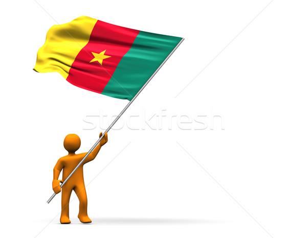 Camarões ventilador homem cores pessoa cor Foto stock © limbi007