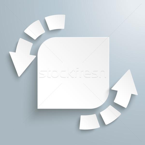 Succes pijl stukken cyclus rechthoek witte Stockfoto © limbi007