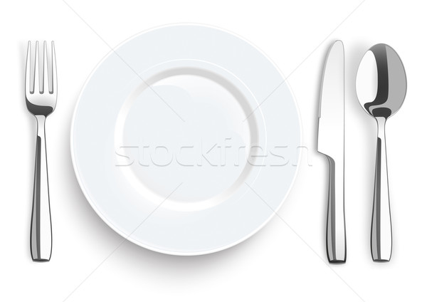 Knife Fork Spoon Stainless Steel Flatware Stock photo © limbi007