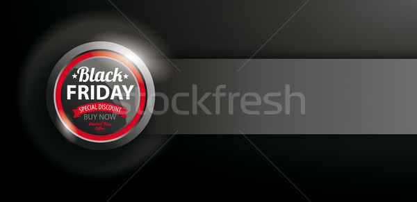 Poder botón black friday banner venta oscuro Foto stock © limbi007