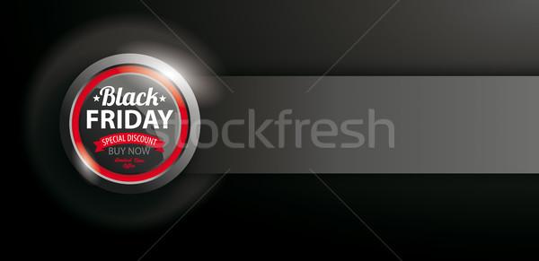 Power Button Black Friday Banner Stock photo © limbi007