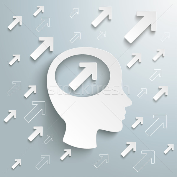 человека голову мозг Стрелки роста успех Сток-фото © limbi007
