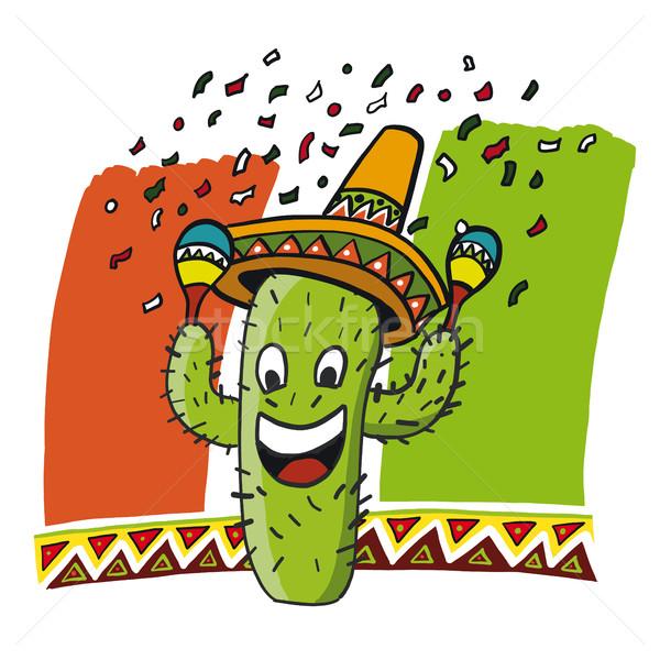 Cactus cómico mayonesa verde colores eps Foto stock © limbi007