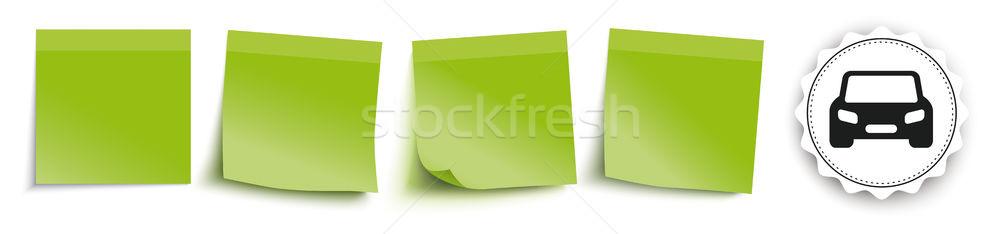 Green Sticks Header Car Emblem Stock photo © limbi007