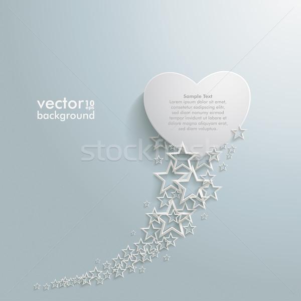 White Stars Dust White Heart Stock photo © limbi007