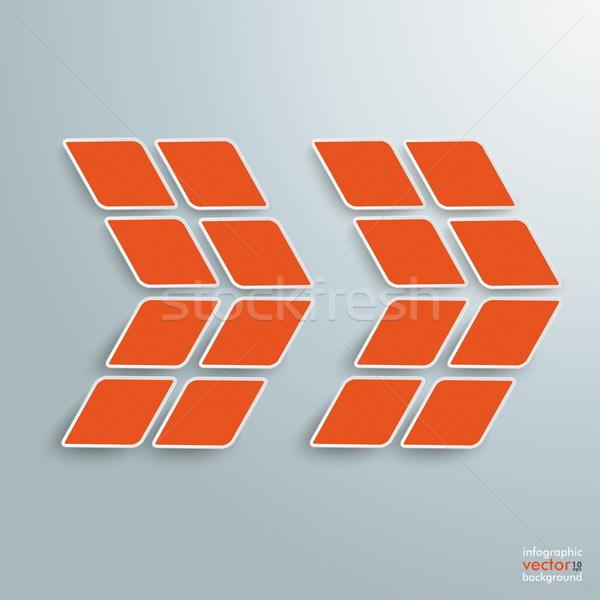 Rhombus Orange Arrow Stock photo © limbi007