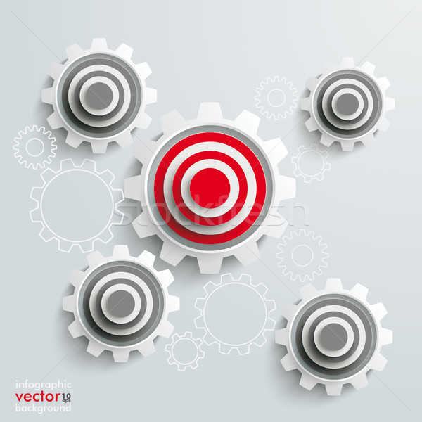 Stock photo: Target Gears