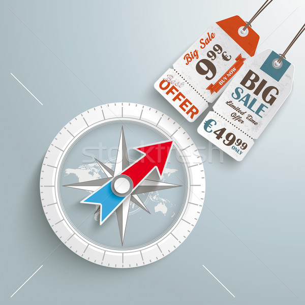 Compass Silver Background Price Sticker Stock photo © limbi007
