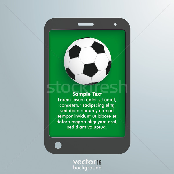 Silver Background Smartphone Football Stock photo © limbi007