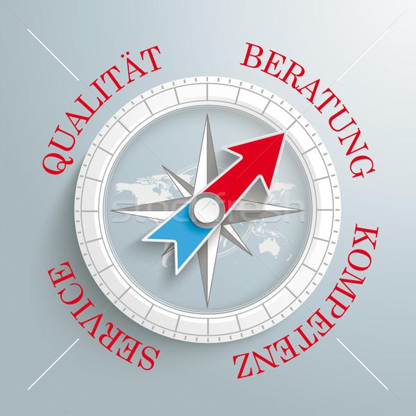 Compass Beratung Qualität Service Kompetenz Stock photo © limbi007