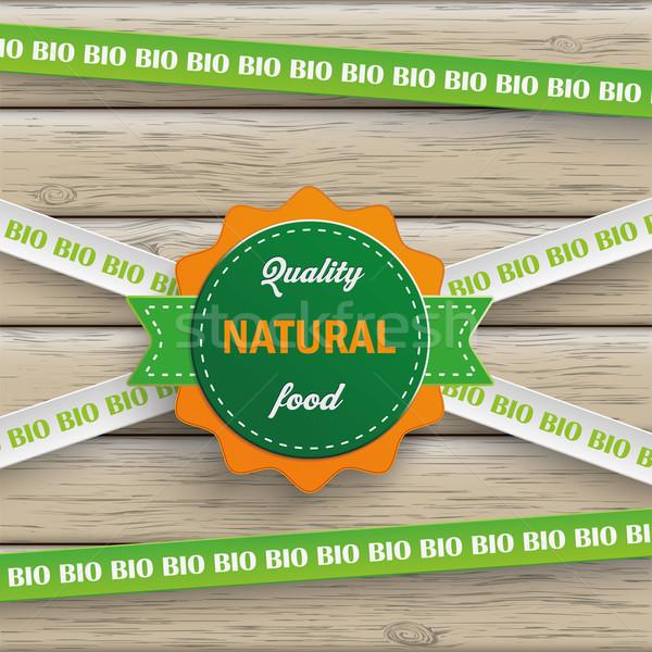 Bio matrica vonalak természetes étel fa Stock fotó © limbi007