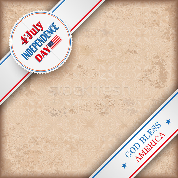 Vintage Background 4 July US Flag Ornaments Stock photo © limbi007