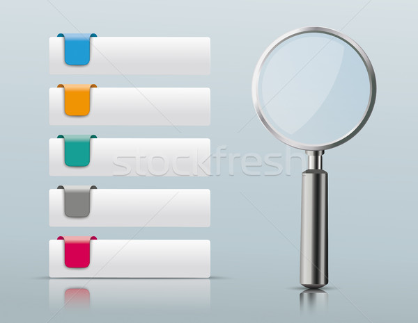 5 Colored Tabs Loupe Stock photo © limbi007