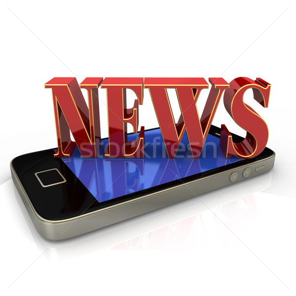 News Smartphone Stock photo © limbi007