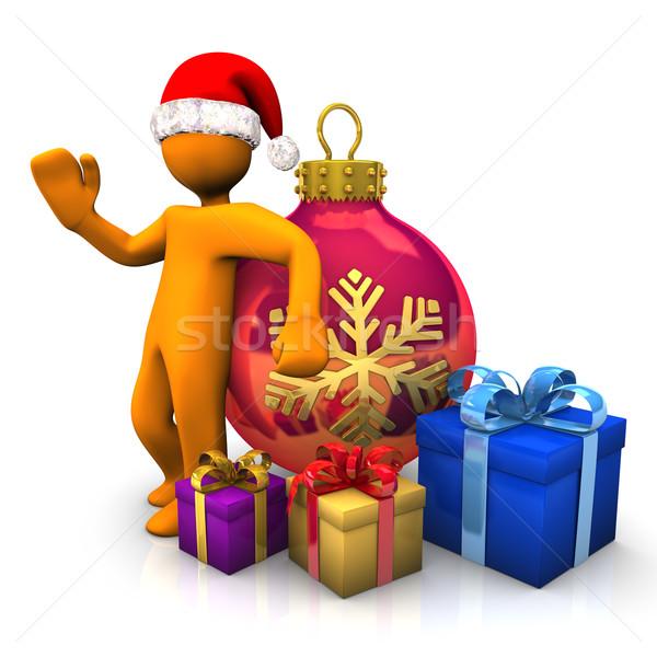 Christmas With Sant Clause Stock photo © limbi007