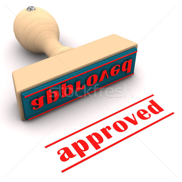 Stamp Approved Stock photo © limbi007