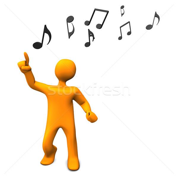Dans muziek merkt oranje muziek partij Stockfoto © limbi007