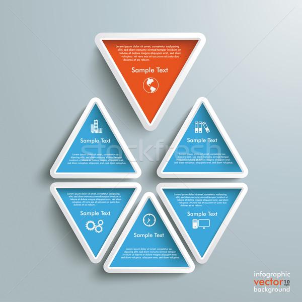 Six Blue Orange Triangles Stock photo © limbi007