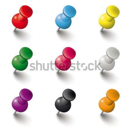 Colored Pins Set Stock photo © limbi007