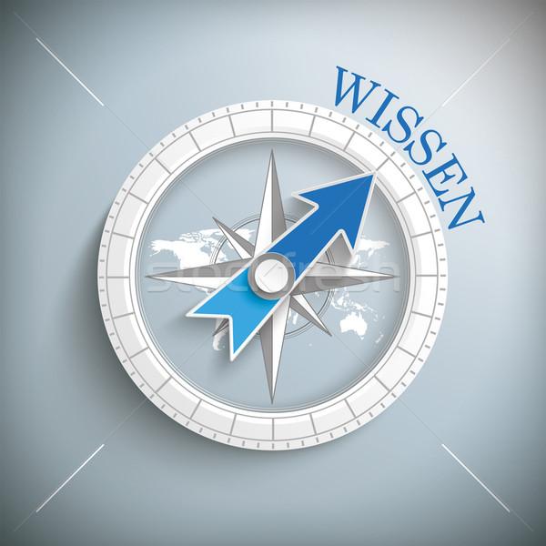 Compass Wissen Stock photo © limbi007