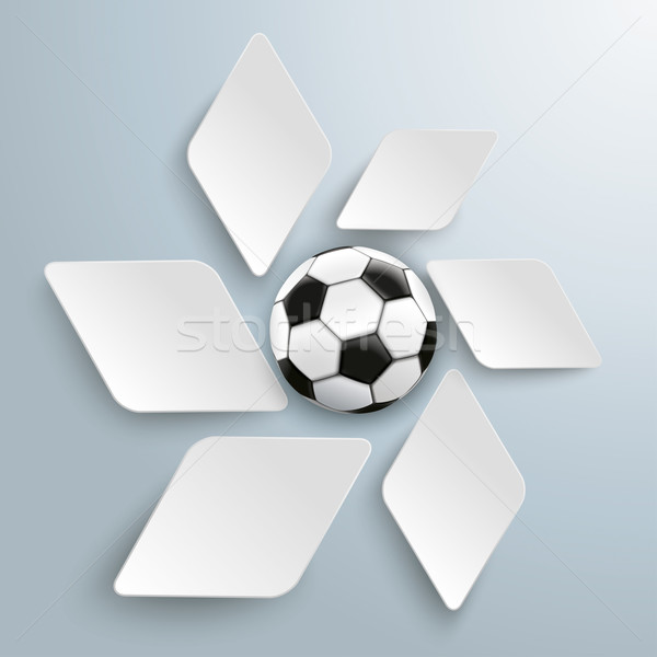 White Rhombus Pieces Football Stock photo © limbi007