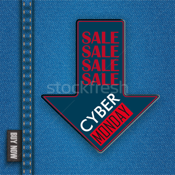 Jeans Down Arrow Cyber Monday Stock photo © limbi007