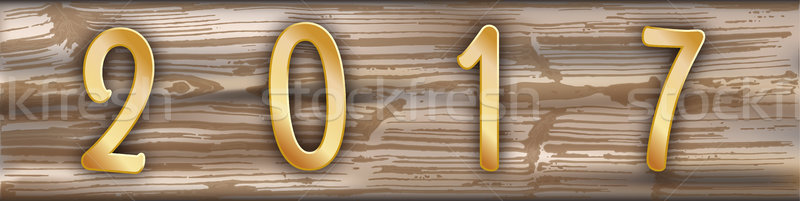 Getragen Holz Planke golden Kopfzeile Struktur Stock foto © limbi007