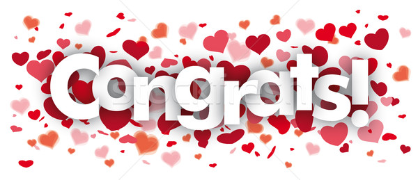Congrats Confetti Hearts Stock photo © limbi007