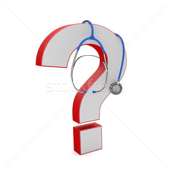 Question Mark Blue Stethoscope Stock photo © limbi007